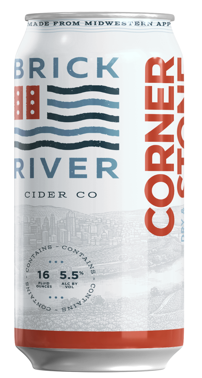 Cornerstone craft hard cider by Brick River Cider Co in St. Louis