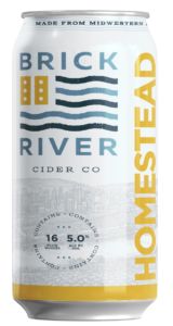 Homestead craft hard cider by Brick River Cider Co in St. Louis