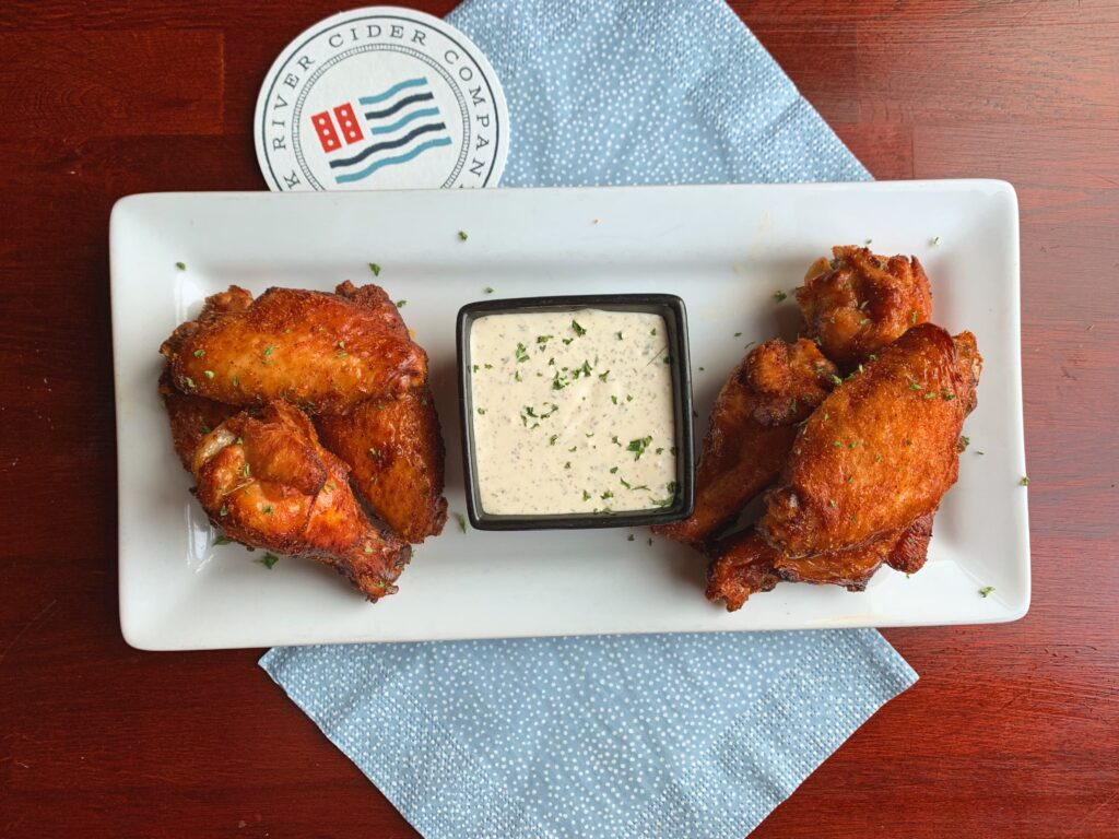 Cider Brined Chicken Wings